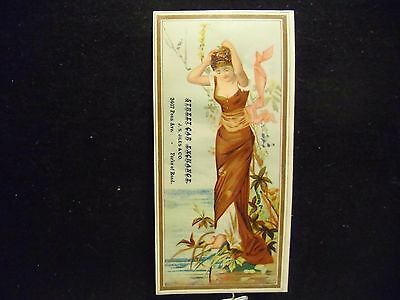 victorian trade card # 6512 - LADY IN BURGUNDY - BOOK MARK