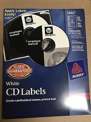 CD/DVD 40 Labels White Laser 5692 by Avery