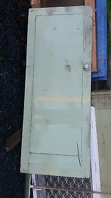 Vintage retro solid timber door old school