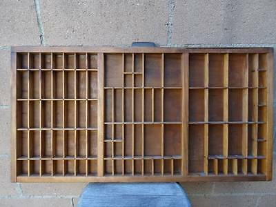 Vintage Wood Hamilton Letter Press Type Tray Shadow Box Drawer 32 inches PICKUP