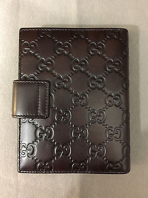 Authentic Gucci Leather Guccissima Small Agenda/Organizer - Purchased from Japan