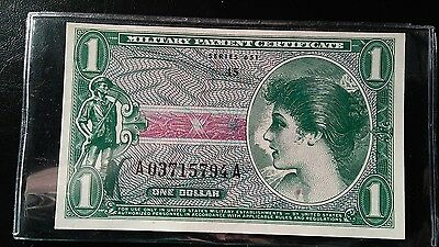 1 Dollar Military Payment Cert.   Series 651.  Gem UNC.  High Grade.