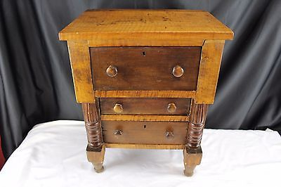 Antique Small Wood 3 Drawer Chest, Salesman Sample 1880's Edwardian