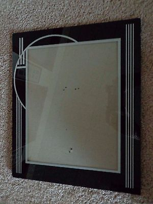 Vintage Reverse Painted Picture Frame 12x10 - Nice!