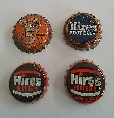 Lot Of Eight Diff. 7 Up Hires Root Beer Soda Pop Caps Cork Back Crown Cap Ca Mn