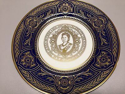 Caverswall 90th Birthday Queen Mother Limited Edition Plate.