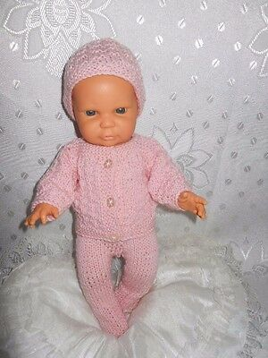 "Knitted Pink Set for 12"" (31 cm) DOLL"