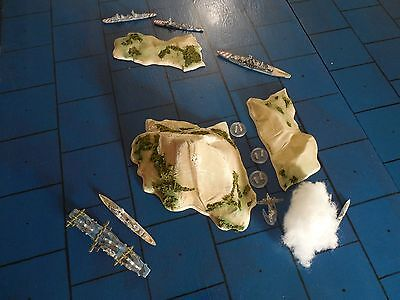 Mediterranean reconfigurable island set for War at Sea (tm) and other wargames
