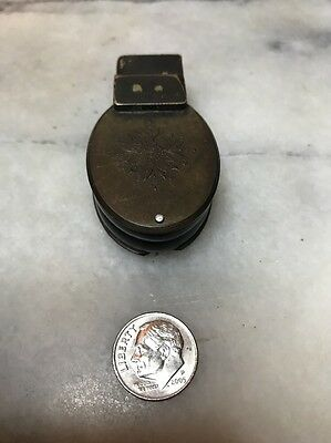 Victorian Brass Folding Magnifying Glass Loop W/victorian Design On The Case