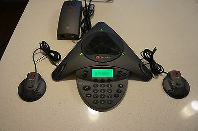 Polycom SoundStation VTX1000 Conference Phone with 2 x Extended Microphones