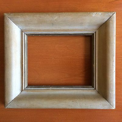 """Vintage Wooden Picture Frame, Old, Hand Carved (9 1/2"""" x 8 1/4"""" x 1 1/4"""")"""