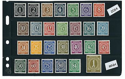 Germany stamp Mint set / Complete 1946 Issues / Post  WWII  Germany / Stamps MNH