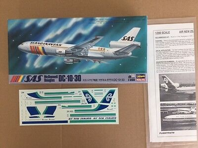 AIR NEW ZEALAND DC-10-30, HASEGAWA 1:200 Scale, Plastic model kit. New