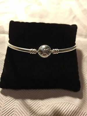 FREE POST Pandora Dainty Bow Moments Sterling Silver Bangle 590724CZ NEW GENUINE