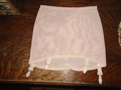 VINTAGE TIGHT *MOCHA* O/B GIRDLE w/ GARTERS UNWORN NOS ~ EUROPEAN / GERMAN MADE