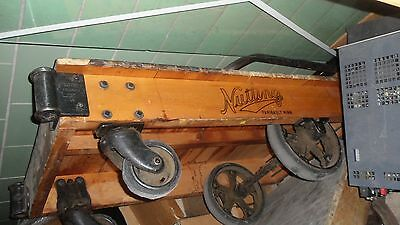 Antique Nutting  Factory  Cart