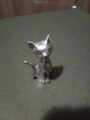 Low Country Hand Crafted Pewter Cat Charleston SC Signed Maxine Marsh '85