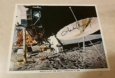 Charles Conrad Signed Apollo 12 On The Moon Litho 8x10 Nasa Rare Moonwalker 11