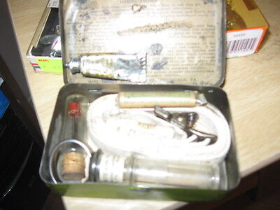Rare M S A Vintage Snake Bite Kit with Original Metal Can glass tube suction