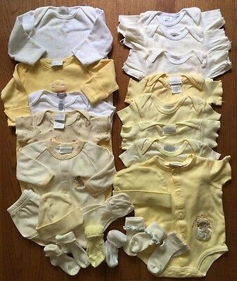 Carters Mini Me Brand Names Size 0-3 Newborn Baby Girl/Boy Yellow Outfits Lot 22