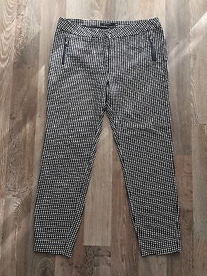 Portmans Tailored Pants Size 10 Black And White