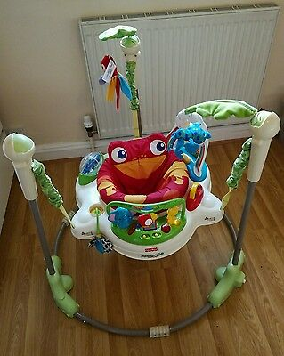 Fisher price jumperoo rainforest bouncer baby toy activity jumping