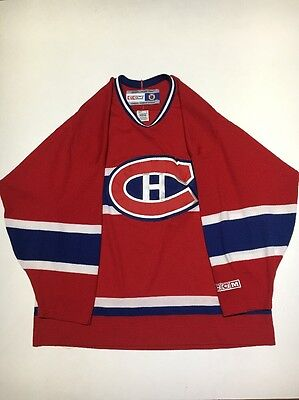 Vintage Montreal Canadiens Plain NHL CCM Hockey Jersey Adult Size Large