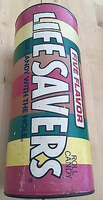 "Vintage LIFE SAVERS Roll Candy Bank 12"" Tall Cardboard Tube"