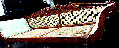 Stunning Massive Vintage/antique Day Bed/ Chaise Lounge/ Sofa/settee 4-5 Seater