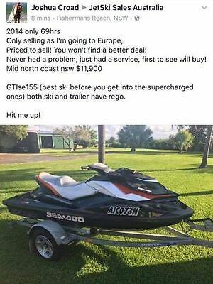 2014 SEADOO - ONLY 69 HRS - GTIse155