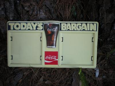 Rare Vintage Enjoy Coca Cola Coke Todays Bargain Menu Or Sign