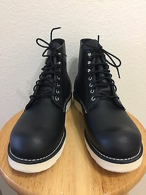 "Red Wing 8165 Classic Round Toe Leather 6"" Work Boot Black Sz 9.5D"
