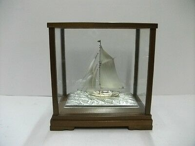The sailboat of silver985 of the most wonderful Japan.  A Japanese antique.