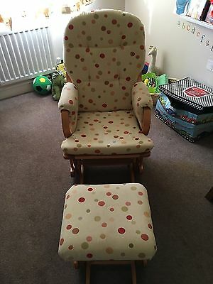 ***Gliding Maternity Chair and Foot Stool VGC***