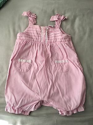 Mini Mode Pink And White Striped Summer Baby Girl Romper 3-6months