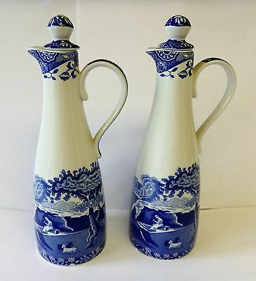 Pair of Spode Italian oil & vinegar bottles ( unused ).