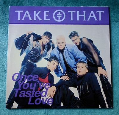 "Take That+Rare 12""+Once You've Tasted Love Aural Mix+Gary Barlow+Robbie Williams"
