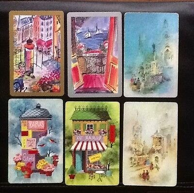 VINTAGE SET- French Art - SWAP PLAYING CARDS