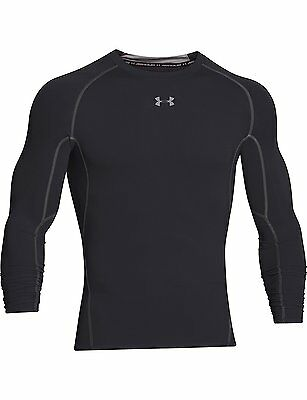 Under Armour HeatGear Compression Mens Long Sleeve Top - Black - Large