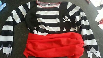 pirate costume fancy dress party kids 2-3