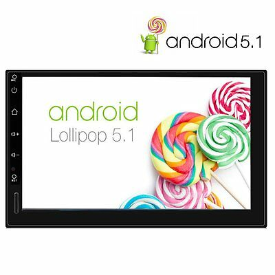 7'' Android 5.1 Dualcore Autoradio Bluetooth 2DIN GPS Stereo Player 3G/FM/USB/SD