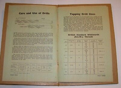 The Model Engineer Data Supplement Clearance and Tapping Drill Sizes