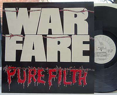 WARFARE Pure Filth DEBUT ALBUM LP 1984 ORIGINAL 1st UK PRESS N.MINT/EX THRASH