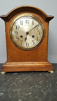 Junghans Solid Wooden Bracket Clock with Strike