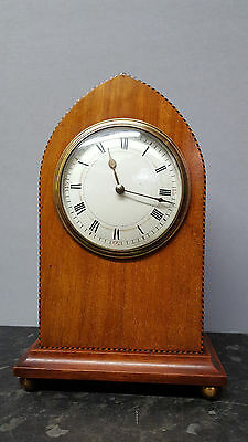 Vintage Lancet Top Solid Wooden Bracket Clock with Platform Escapement