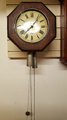 Antique 19th Century Black Forrest Postman's Clock with Strike