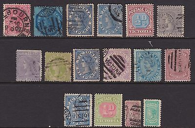 Victoria Colonial Selection To 2/- Used  (De118)
