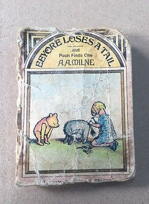 Vintage Eeyore Loses A Tail Miniature Book