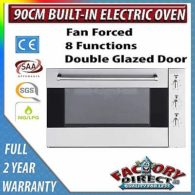 New Adelchi Built In 90cm 9 Function Fan Forced Electric Wall Oven w Rotisserie