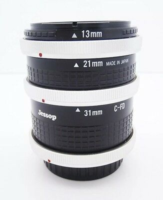 Jessops Macro Extension Tube Set 13mm/21mm/31mm for Canon FD Mount